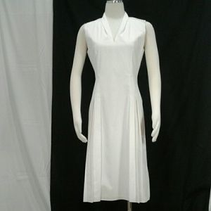Elie Tahari fit and flare poplin dress Sz 6